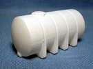 """1/64th """"S"""" Scale 1625 Gal Elliptical Leg Tank in White Strong & Flexible Polished"""