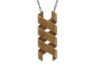 Helix Pendant in Raw Brass