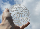 Ball of Winds - Air Element Sculpture in White Strong & Flexible
