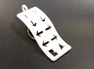 Konami Code Pendant - Wave in White Strong & Flexible