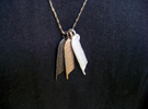 Feather of Ma'at Pendant in Stainless Steel