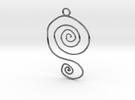 :Spiral Swirl: Pendant in Premium Silver