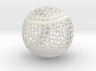 Tennis Ball Curve Wire Mesh in White Strong & Flexible