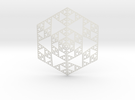 Sierpinski 6 Sided Pyramid in White Strong & Flexible