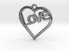 "Heart ""Love"" Pendant in Premium Silver"