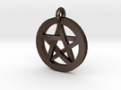 Pentacle Charm in Matte Bronze Steel