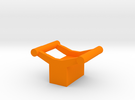 Small Rollercoaster Paperweight (B&M) in Orange Strong & Flexible Polished