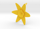 Daffodil Pendant in Yellow Strong & Flexible Polished