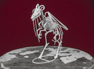 Jersey Devil Skeleton in White Strong & Flexible