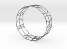 Bracelet Stripes geometric in Polished Silver