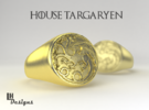 Size 9 Targaryen Ring in Raw Brass