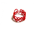Soap-Opera Ring in Red Strong & Flexible Polished
