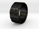Tread lightly Ring Size 7 in Matte Black Steel