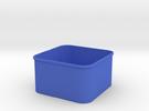 3x3 Shapeways INSIDE in Blue Strong & Flexible Polished