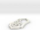 Swirl Pendant One Large Swirl in White Strong & Flexible