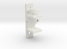 SG90 rc servo holder with eccentric wheel. in White Strong & Flexible