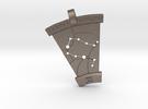 Gemini Constellation Pendant in Stainless Steel