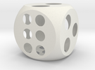 Balanced Dice 4in in White Strong & Flexible