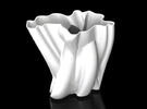 Vase 012 in White Strong & Flexible