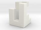 Triaxial piece (2cm) in White Strong & Flexible