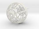 Logo Globe on Chain in White Strong & Flexible