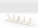 D&D Minis (Set two) in White Strong & Flexible Polished