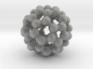 C60 - Buckyball - L - Steel in Metallic Plastic