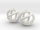 Kraken-Earrings 2 Pieces in White Strong & Flexible