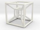 Hyper Cube 4D in White Strong & Flexible