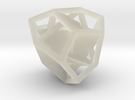 d12 tetartoid blank in Transparent Acrylic