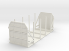 CIE 2 Axle Timber Wagon OO Scale  in White Strong & Flexible