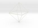 Oktaeder 6 cm in Transparent Acrylic