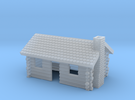Log Cabin with chimney- Z scale in Frosted Ultra Detail