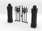 Iron Fence Gate in Black Strong & Flexible