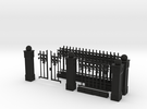 Iron Fence Kit #1 in Black Strong & Flexible