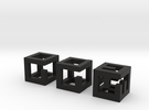 little maze-n-cubes (hollow 0.75mm walls) in Black Strong & Flexible