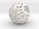 Moroccan Ball 7.1 in White Strong & Flexible