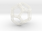 Dodecahedron Frame in White Strong & Flexible Polished