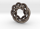 4 strand right hand mobius spiral charm bead in Stainless Steel