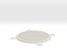 Fan Grill 80mm in White Strong & Flexible