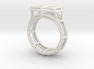 Simple Wire Signet in White Strong & Flexible