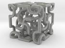 Complex cube 3 in Metallic Plastic