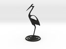 Fishing stork in Black Strong & Flexible