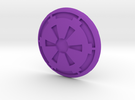 Cog Button in Purple Strong & Flexible Polished