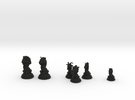 Individual Chess pieces - Animal Kingdom in Black Strong & Flexible