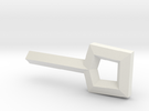 Square Key in White Strong & Flexible