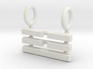 I Ching Trigram Pendant - Chen Upper in White Strong & Flexible