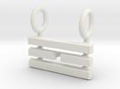I Ching Trigram Pendant - Li Upper in White Strong & Flexible