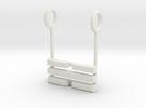 I Ching Trigram Pendant - K'an Lower in White Strong & Flexible