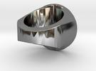 Zwetplassers Zegelring Met Tekst in Premium Silver